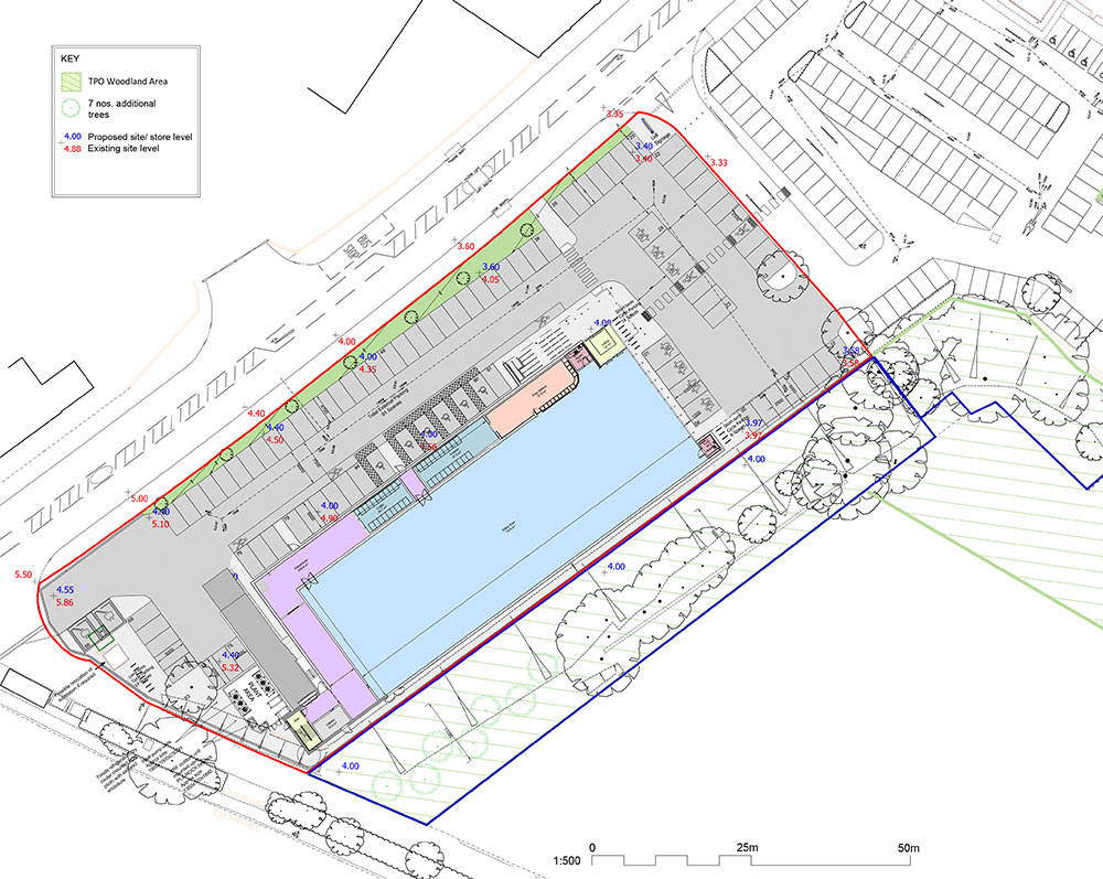 Proposed Site Plan – Lidl Erith